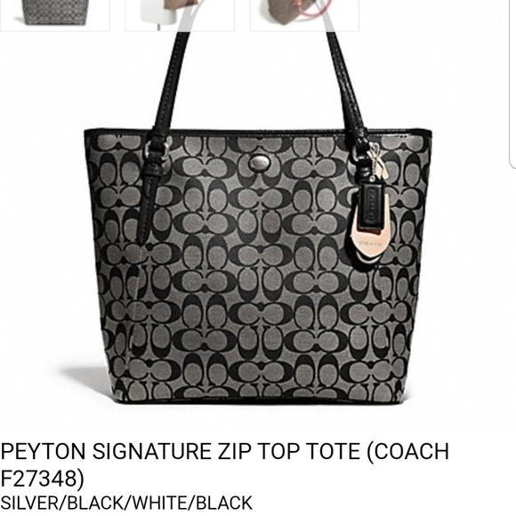 Coach Handbags - Coach Peyton Signature Zip Tote